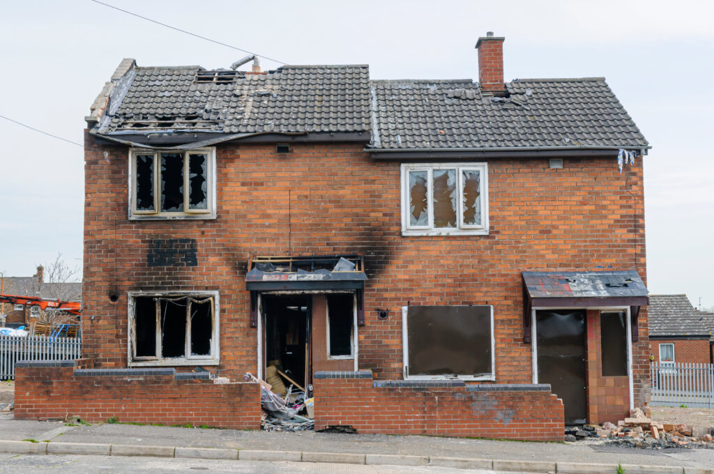 Badly damage house. Landlord Insurance near me, Hull, East Yorkshire